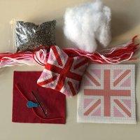 Pink Union Jack Mini Tapestry Hanging Decoration Kit