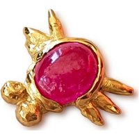 Wild Beetle Ruby Stud, Two, One Of A Kind