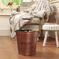 Copper Vintage Style Kindling Bucket