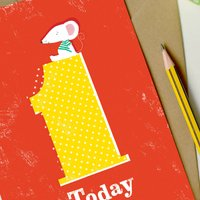 1st Birthday Card 'One Today'