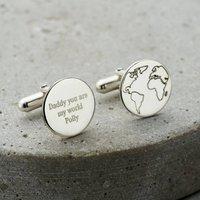 Personalised Globe Cufflinks