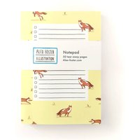 Fox Illustrated Notepad To Do List