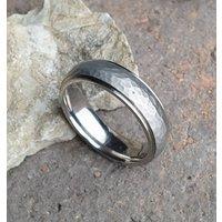 Personalised Titanium Wedding Ring Brushed Texture