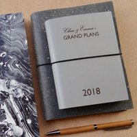 Personalised Grand Plans Leather Diary