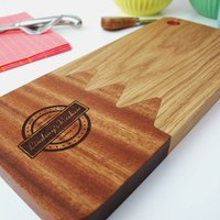 Oak Personalised Serving Platter And Chopping Board