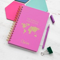 Personalised 'The World Is Your Oyster' Notebook
