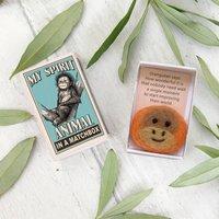 Wool Felt Orangutan Spirit Animal Gift In A Matchbox