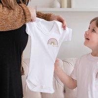 Personalised Baby Rainbow Name Bodysuit