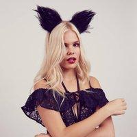 Feather Black Cat Ears Headband