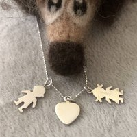 Personalised Necklace For A Mother With Two Children