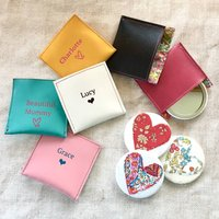 Handmade Liberty Heart Mirror With Leather Pouch