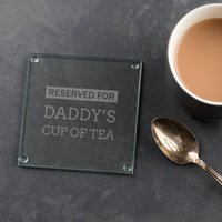 Personalised Daddy Engraved Glass Coaster