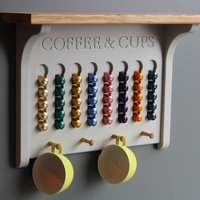 Wall Mounted Coffee Pod Holder A Choice Of Colours, Lime/White/Grey