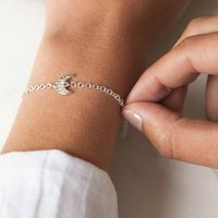 Silver To The Moon Charm Bracelet, Silver