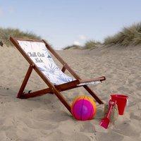 Personalised Tropical Beach Deckchair For Men, Green/Blue