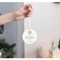 Personalised Christmas Engagement Keepsake Gift