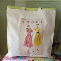 Vogue Sewing Pattern Eco Friendly Shopper
