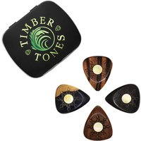 Sun Tones Timber And Shell Guitar Picks In A Gift Tin