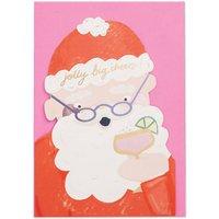 'Jolly Big Cheers!' Santa Christmas Card