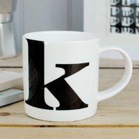 Alphabet Initial Mug: K