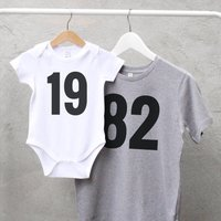 Personalised T Shirt And Baby Set