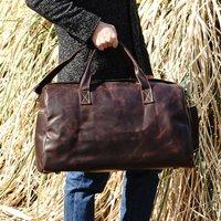 Genuine Leather Weekend Bag