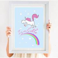 Personalised Unicorn And Rainbow Print