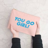 You Go Girl Blush Pink Pouch