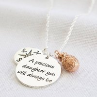 A Precious Daughter Meaningful Words Necklace