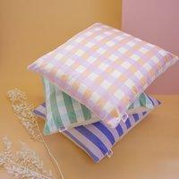 Gingham Velvet Check Cushion
