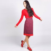 Bloomsbury Pencil Skirt Purple Red