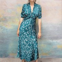 Mountain Pine Print Longline Forties Tea Dress