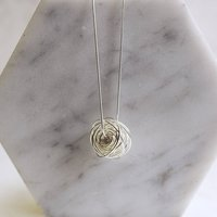 Sterling Silver Coiled Nest Necklace, Silver