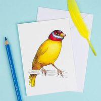 Canary In A Mexican Wrestling Mask Card