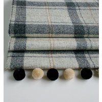 Winter Grey Tweed Roman Blind