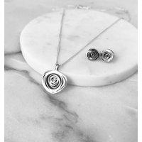 Silver Spiral Pendant, Silver