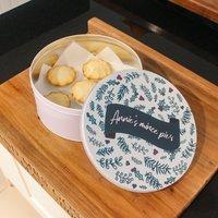 Personalised Circle Christmas Cake Tin