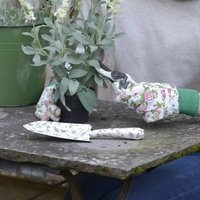 Floral Trowel, Pruner And Gloves Set