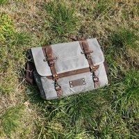 Stitched Detail Messenger Laptop Bag