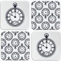 Set Of Four Pocket Watch Coasters