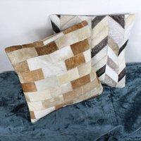 Cowhide Mosaic Cushions Covers By G Decor