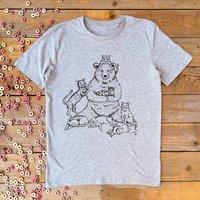Crazy Cat Bear Organic T Shirt