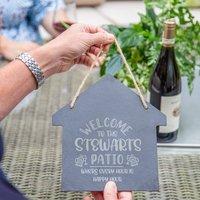Personalised Garden Bar Slate Sign