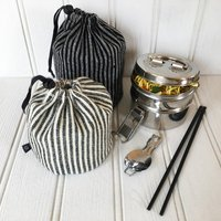 Tiffin Tin With Welsh Wool Case, Grey