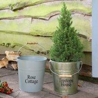 Personalised Autumn Garden Bucket Planter Collection
