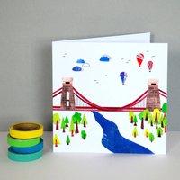 Suspension Bridge Greetings Card