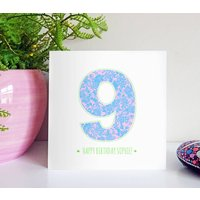 Floral Age Birthday Card