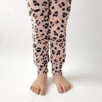 """Dusty Pink """"Leopard Spot"""" Organic Cotton Leggings"""