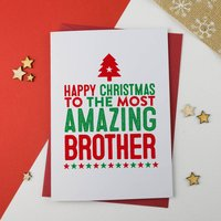 Amazing Brother Christmas Card