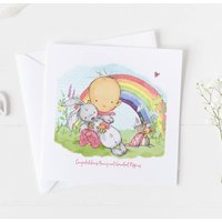 New Baby Card For Rainbow Baby, Christening Card ..4v2a